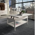 Luxusný konferenčný stolík Sajonia s poličkou a možnosťou vyklápanie z masívneho dreva