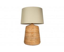 Ratanová nočná lampa s béžovým tienidlom Roisse 96cm