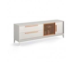 Luxusný moderný TV stolík Estoril so zásuvkami a dvierkami 193cm