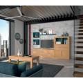 Luxusný moderný TV stolík Véneto z masívneho dreva so štyrmi zásuvkami 173cm