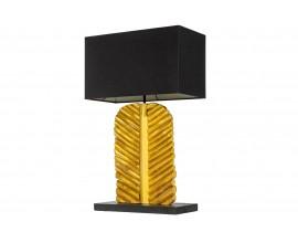 Masívna zlatá nočná lampa Misivo s tmavým hranatým tienidlom 63cm