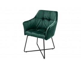Dizajnová stolička Armlehne zamatová sivá, hnedá, zelená, tyrkysová
