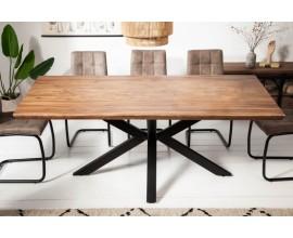Industriálny jedálenský stôl Cosmos z masívneho dreva sheesham a kovovými nohami 180cm