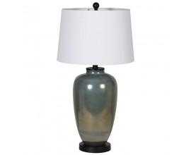 Moderná stolná lampa Dalia s metalickým povrchom a bielym tienidlom 73cm