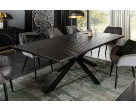 Industriálny jedálenský stôl Cumbria z masívu s kovovými nohami