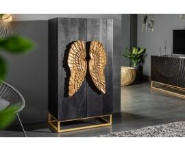 Art-deco šatníková skriňa Seraphic s anjelskymi krídlami z masívneho dreva 140cm
