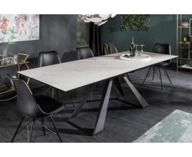 Dizajnový rozkladací jedálenský stôl Laguna mramorový vzhľad 180/230cm