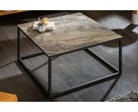 Industriálny konferenčný stolík Collabor s kovovou konštrukciou a keramickou doskou 75cm