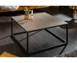 Industriálny konferenčný stolík Collabor s kovovou konštrukciou a keramickou doskou s betónovým efektom  75cm