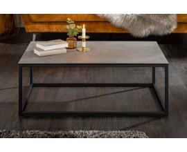 Industriálny konferenčný stolík Collabor s keramickou doskou s betónovým vzhľadom 100cm