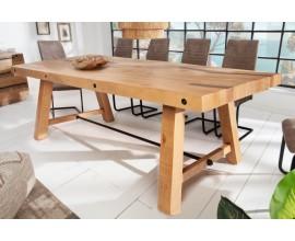 Industriálny jedálenský stôl Roseville z masívneho dreva 200cm
