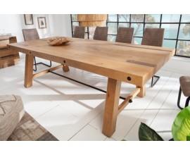 Industriálny masívny jedálenský stôl Roseville v svetlohnedej farbe 240cm