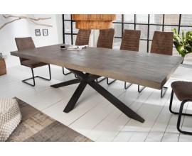 Industriálny jedálenský stôl Comedor s čiernou kovovou konštrukciou 200cm