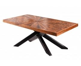 Industriálny konferenčný stolík Fair Haven s prekríženými čiernymi nohami 105cm