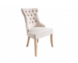 Chesterfield jedálenská stolička Torino s chesterfield prešívaním v bielej farbe a klopadlom 96cm