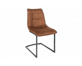 Dizajnová hnedá jedálenská stolička Suava s čiernou kovovou konštrukciou 88cm