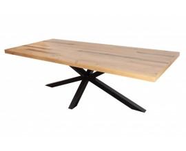 Masívny hranatý jedálenský stôl Comedor s industriálnou kovovou konštrukciou 200cm