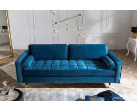 Modrá dizajnová dvojsedačka v modrej farbe moderná