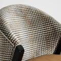 Art-deco luxusná horčicová stolička Brilon s čiernymi masívnymi nohami 84cm