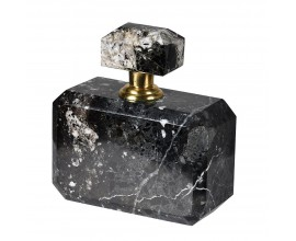 Štýlová mramorová nádoba na parfum v čiernej farbe 12cm