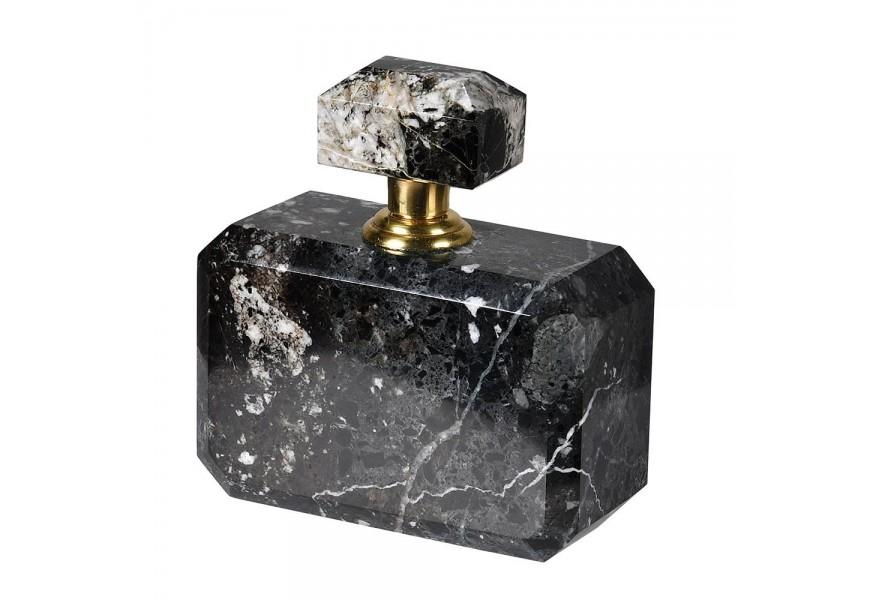 Štýlová mramorová nádoba na parfém v čiernej farbe 12cm