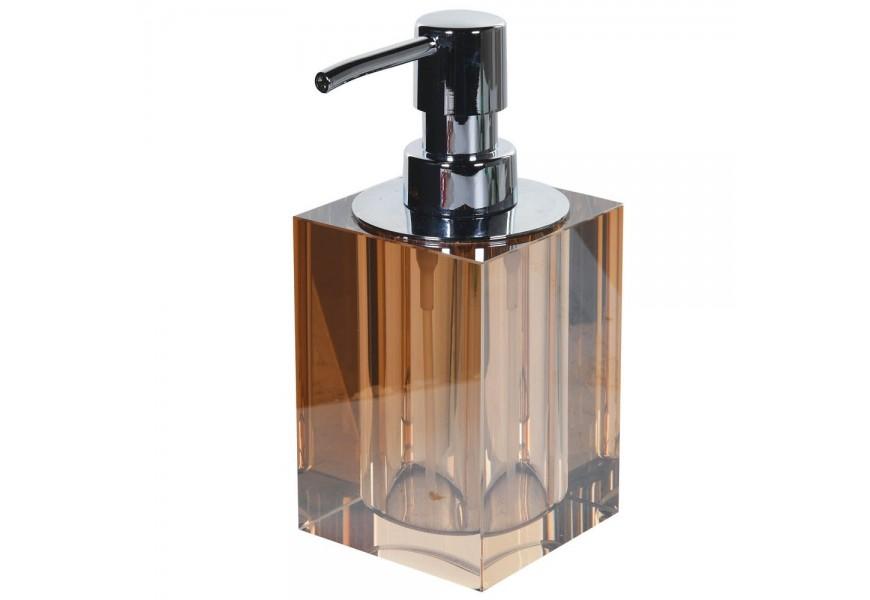 Štýlový krištáľový dávkovač mydla Amberon 16cm