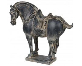 Dizajnová dekoračná soška koňa v rustikálnom štýle 30cm