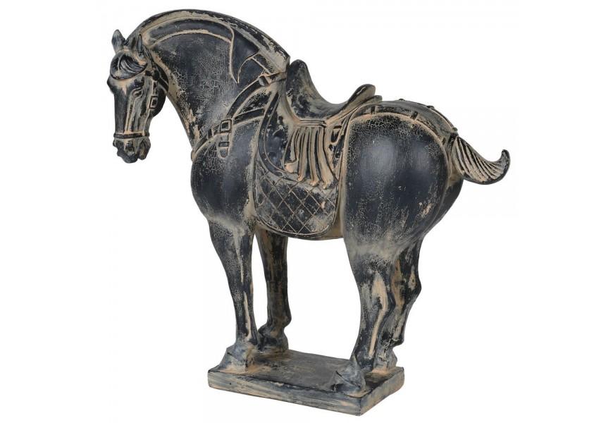Dizajnový dekoračný kôň v rustikálnom štýle 30cm