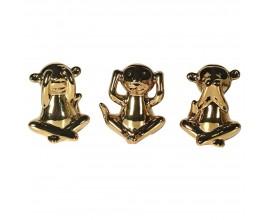 Sada tri múdre opice nevidím nepočujem a nehovorím zlo zlatej farby