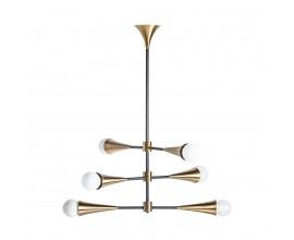 Art-deco luxusný luster Tayla v zlato-čiernom prevedení 88cm