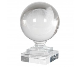Dizajnové ťažítko krištáľový globus na sklenej podstave 15cm