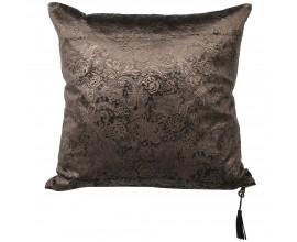 Štýlový medenno-čierny vankúš so ornamentálnym vzorom Paisley 40cm