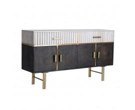 Art-deco luxusná komoda Glees z mangového dreva so zlatými prvkami 153cm