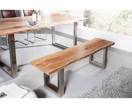 Dizajnová industriálna lavica Mammut z masívneho dreva a kovu
