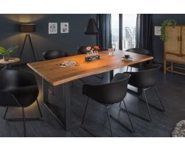 Industriálny štýlový jedálenský stôl Mammut z masívneho akáciového dreva 160cm