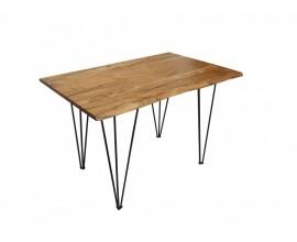 Industriálny jedálenský stôl Mammut z masívu s kovovými nohami 120cm