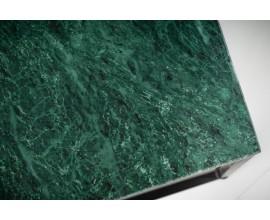 Art-deco dizajnový konferenčný stolík Elements z mramoru v zelenej farbe 50cm
