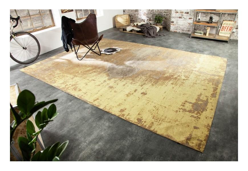 Jedinečný a vkusný koberec Adassil žltej farby v orientálnom štýle