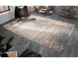 Nadčasový obdĺžnikový bavlnený koberec Adassil sivo-béžovej farby v orientálnom štýle