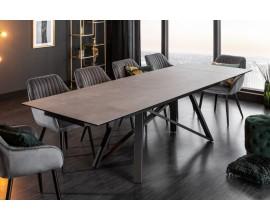 Jedinečný a nadčasový sivý keramický jedálenský stôl Epinal obdĺžnikového tvaru