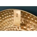 Orientálne luxusné nástenné zrkadlo Solei v zlatom ráme v tvare kruhu 60cm