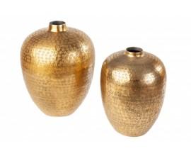Orientálne vázy Retrivee so zlatým tepaným povrchom 33cm