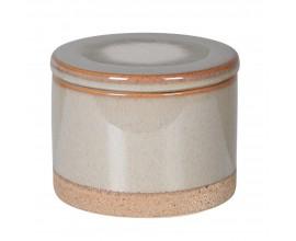 Provensálska sivá keramická nádoba Nancy II