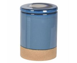 Provensálska hermetická keramická nádoba na kávu Nancy I staromodrá 9cm