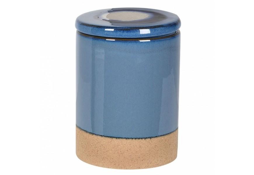 Provensálska hermetická keramická nádoba na kávu Nancy I staro modrá 9cm