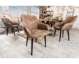 Dizajnová stolička Timeless Comfort sivohnedá