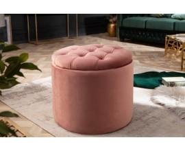 Moderná taburetka Modern Barock ružová 50cm