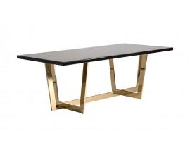 Art deco jedálenský stôl Oliva II zlato čierny 220cm