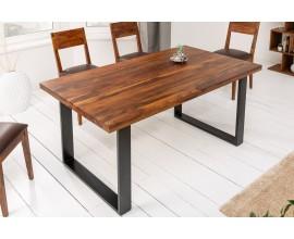 Industriálny dizajnový masívny jedálensky stôl Steele Craft z palisandrového dreva 140cm