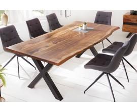 Industriálny dizajnový jedálenský stôl Steele Craft z masívneho palisandrového dreva 200cm